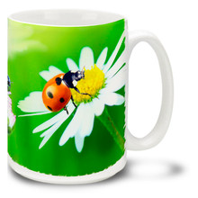 Ladybugs and Daisies - 15 oz Mug