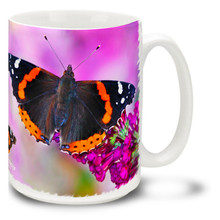 Red Admiral Butterfly - 15 oz Mug