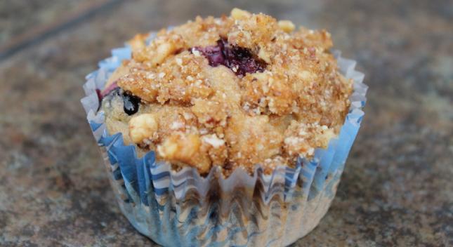 Blueberry Banana Streusel Muffins