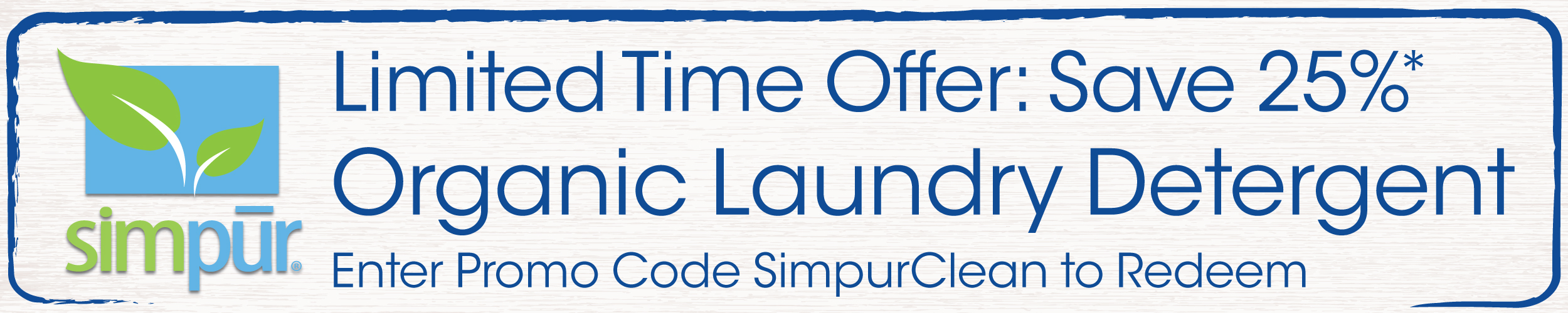 Save 25% on Simpur Organic Laundry Detergent