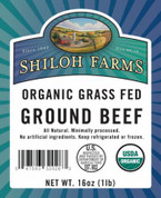 Ground Beef, Bulk, Organic Grass Fed