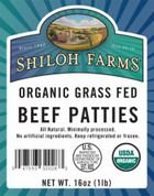 Grass Fed Ground Beef Patties, Organic
