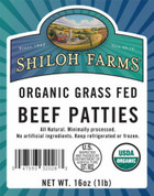 Grass Fed Ground Beef Patties, Organic