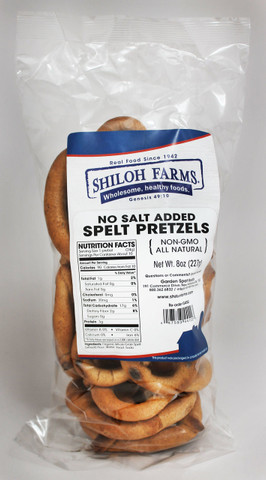 Shiloh Farms No Salt Added Spelt Pretzels