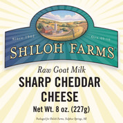 Raw Sharp Cheddar Goat Cheese