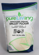 PureLiving Sprouted Millet Flour / Organic, Kosher, Non-GMO, Whole Grain, Raw