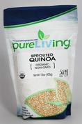 PureLiving Sprouted Quinoa / Organic, Kosher, Non-GMO, Whole Grain, Raw