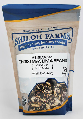 Shiloh Farms Organic Heirloom Christmas Lima Beans