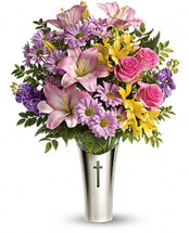 Colored Silver Cross Bouquet