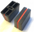 Vestax Fader Knob, PMC170A, PMC-03A, etc Black with Red Stripe