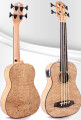Stiger UBS-03 Acoustic Electric fretless Ukulele Baritone Bass - Quilted Ash