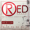 Red MEDIUM  99% Copper Acoustic Guitar Strings 7313