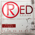 Red EXTRA LIGHT 99% Copper Acoustic Guitar Strings
