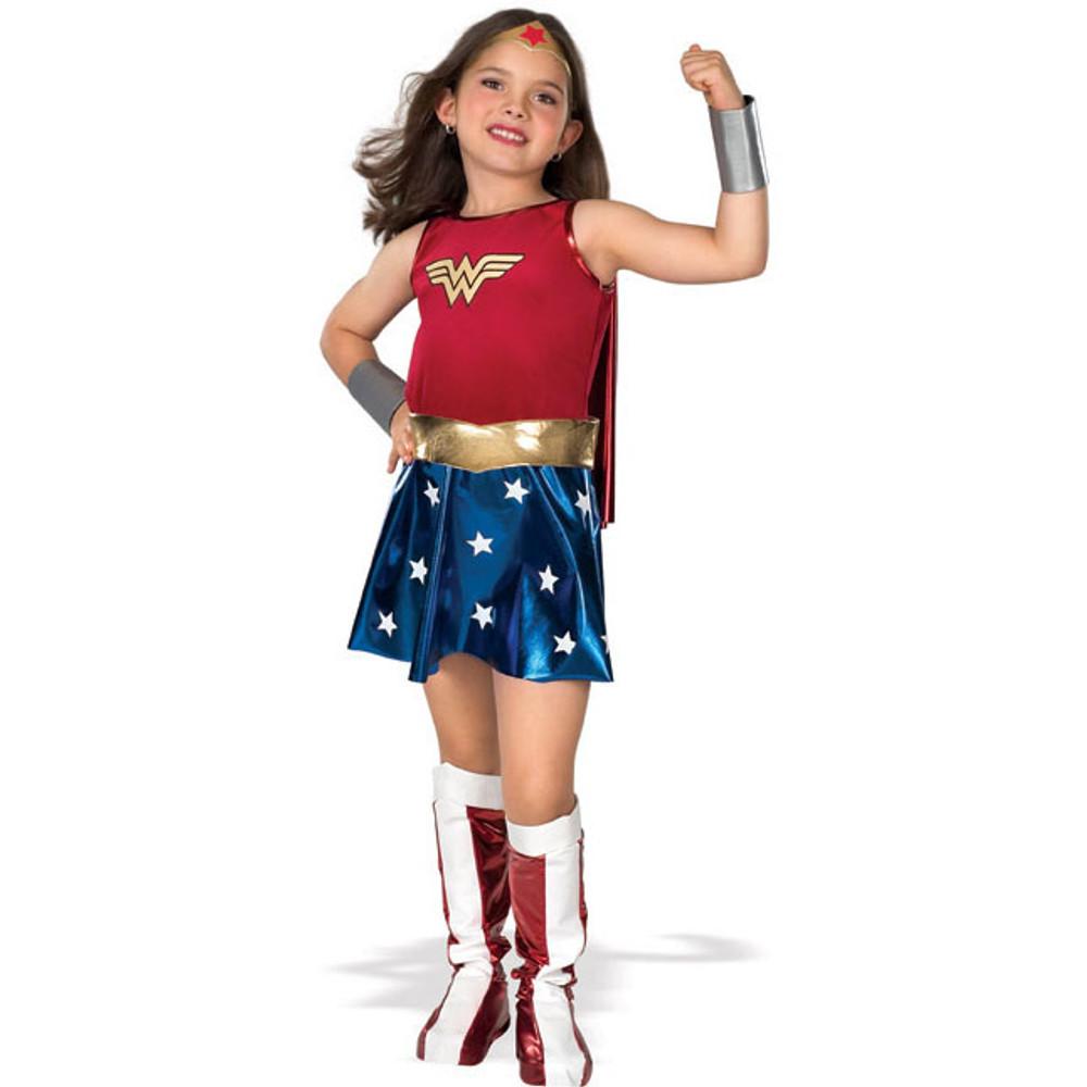 Wonder Woman Superhero Deluxe Girls Costume