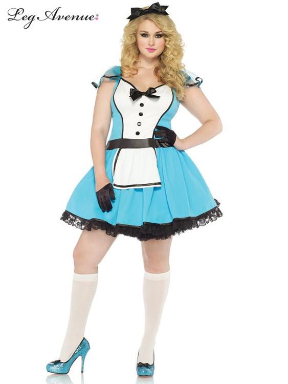 Alice in Wonderland Storybook Alice Plus Size Womens Costume