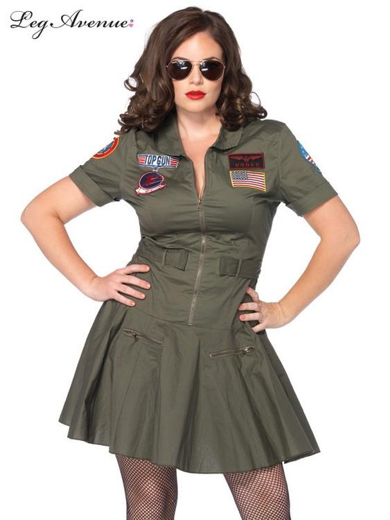 Top Gun Plus Size Flight Dress Costume