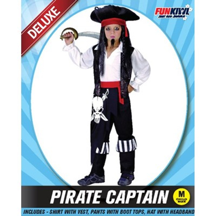 Pirate Captain Boys Costume