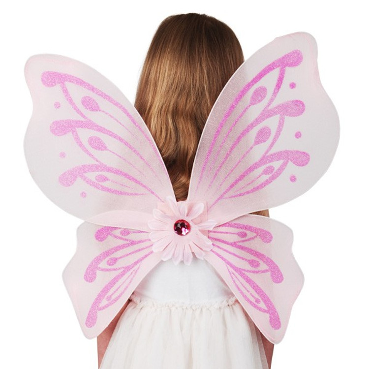 Pink Fairy Child Wings
