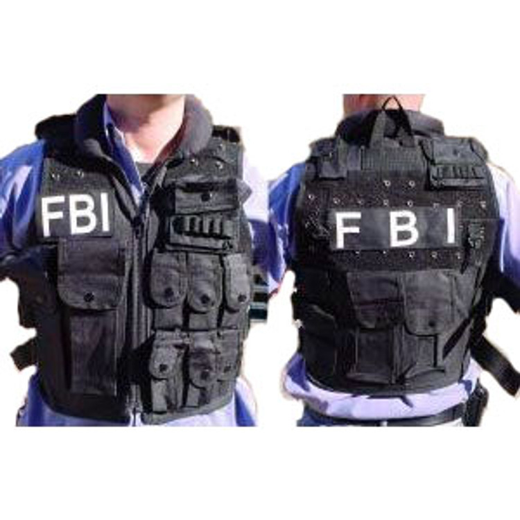 F B I Attack Nylon Vest W Cap Mens Costume