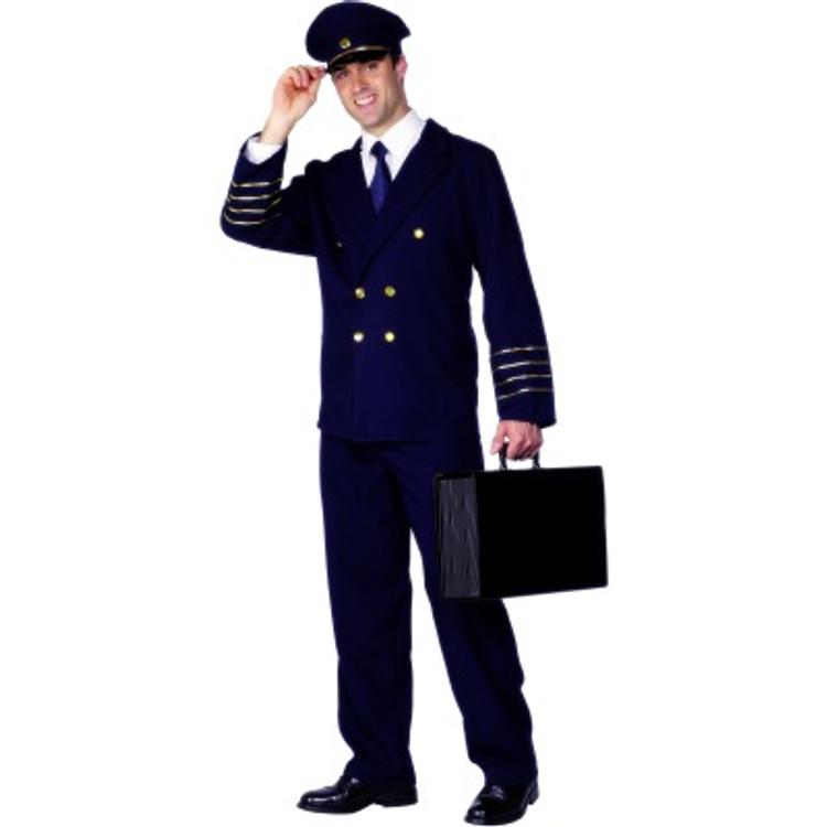 Pilot Hat Costume Mens Navy Blue