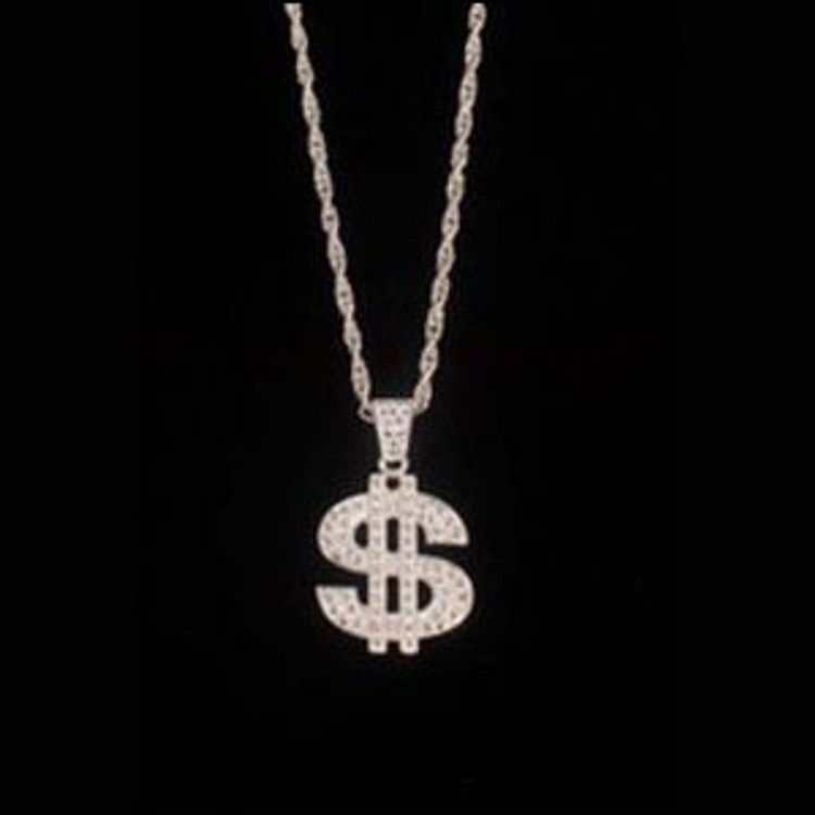 Dollar Sign Bling Necklace