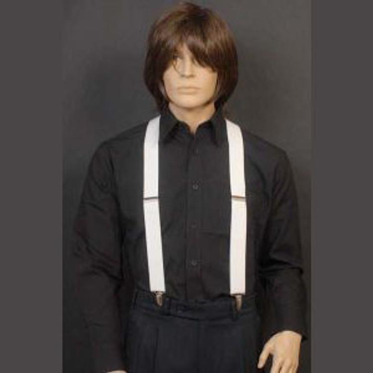 Braces Suspenders - White