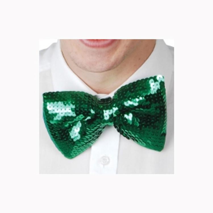 Green Sequin Bowtie