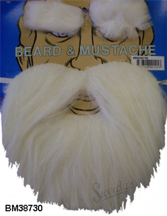 Christmas White Beard & Eyebrows - Santa