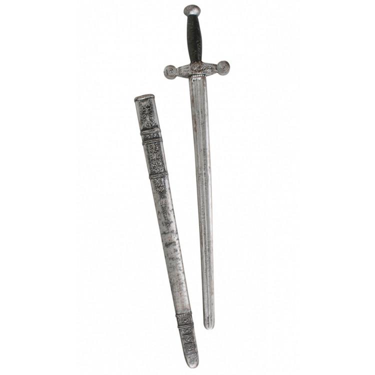 Knight Sword with Sheath - wood & stone look
