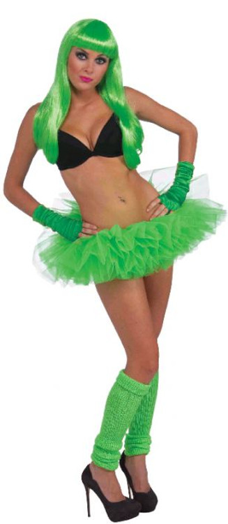 Petticoat Tutu Neon Green  Womens Costume