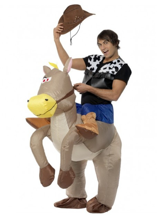 Cowboy Ride Em Inflatable Horse Adult Costume