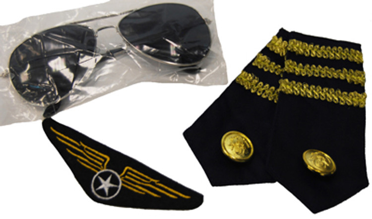 Aviator Kit - Glasses, Epelets and Badge