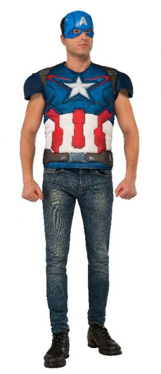 Captain America Avengers 2 Muscle Chest Shirt