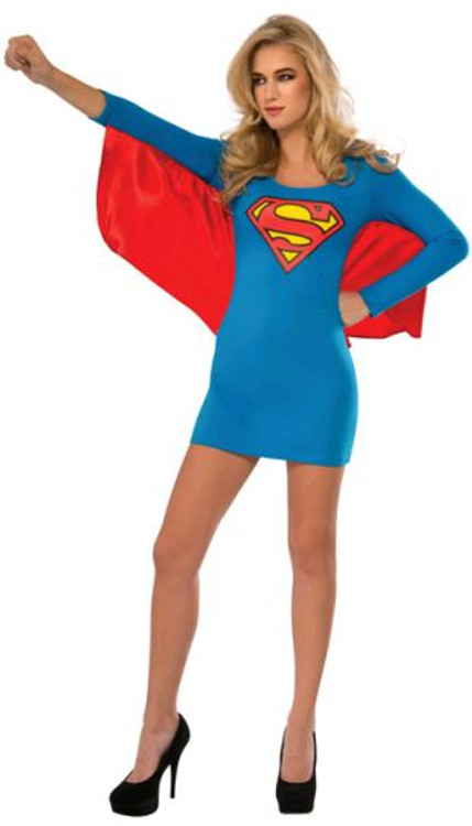 Supergirl Dress with Wings Costume