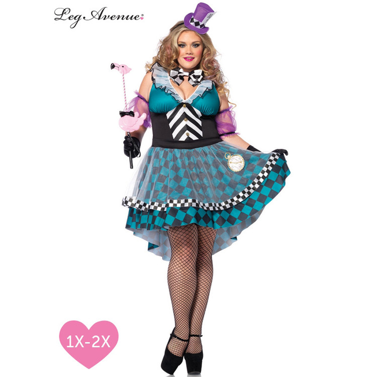 Alice in Wonderland Manic Mad Hatter Plus Sexy Womens Costume