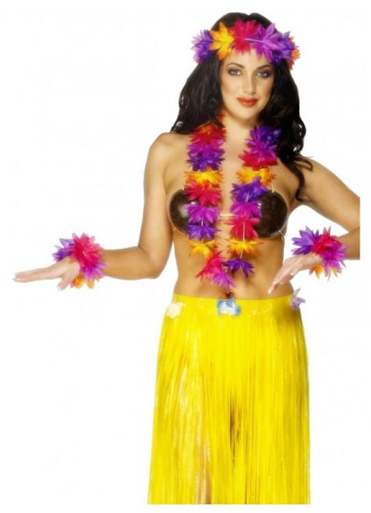 Hawaiian Multi coloured 4 Piece Set