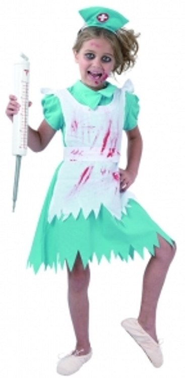 Blood Splattered Nurse Girls Costume