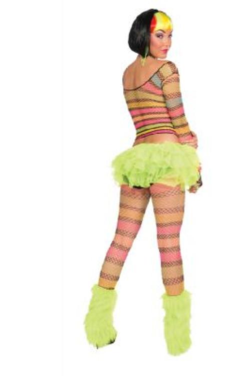 Rainbow Fishnet Top Adult