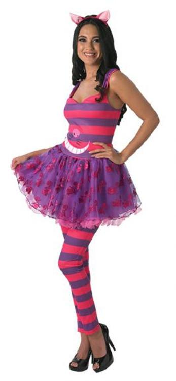 Alice in Wonderland Cheshire Cat Tutu Dress Womens Costume