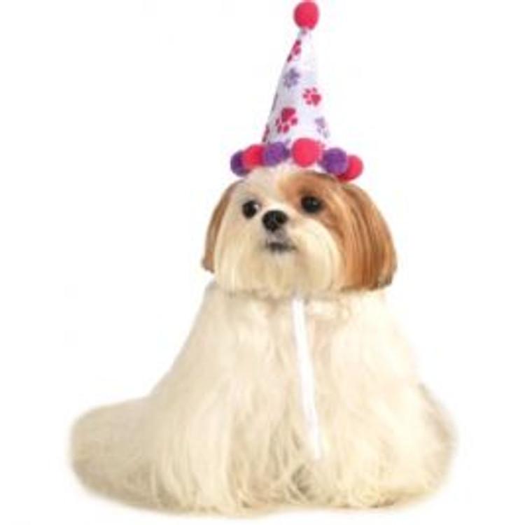 Birthday Hat Pink Pet Hat