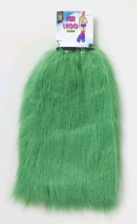 Green Fur Leg Warmers