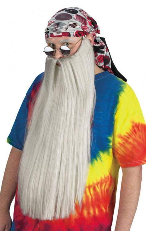 Beard Extra Long  Grey