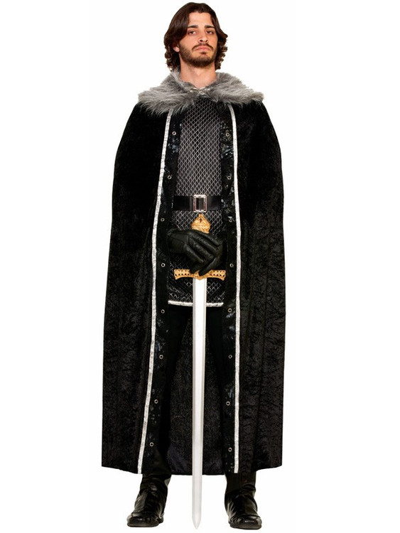 Velvet Fur Trimmed Cape
