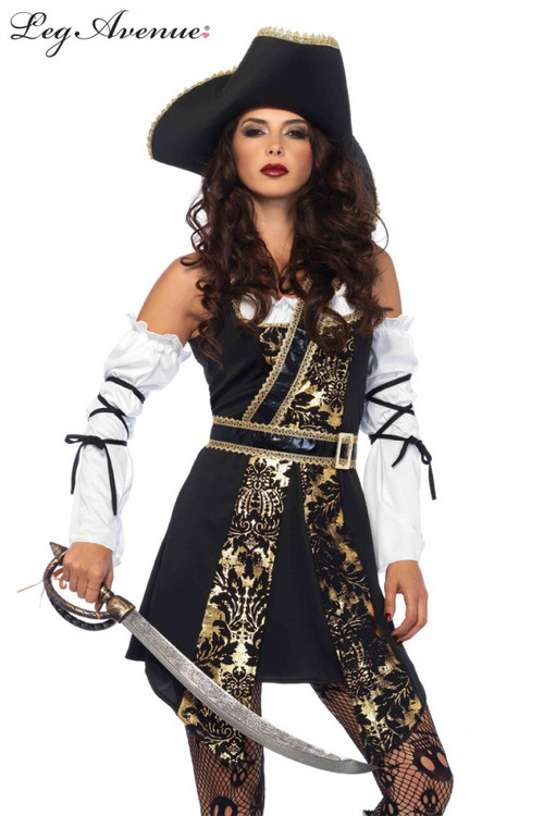 Pirate Black Sea Buccaneer Womens Costume