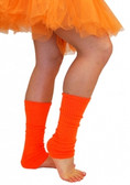 80s Leg Warmers - Fluoro Orange