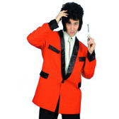 50'S Teddy Boy Mens Jacket Red