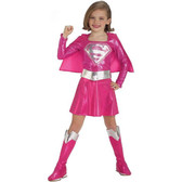 Supergirl Pink Superhero Toddler Costume