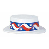 Boater Hat - Skimmer with Star Band