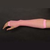 Fishnet Fingerless Gloves Long - Pink