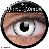 Crazy Lens Contacts - White Zombie